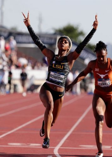 Sha'Carri Richardson Joins a Lineage of Black Track Stars Setting Records In Acrylic Nails