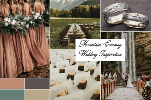 Outdoor Wedding Ideas: Mountain Wedding Ceremony Inspiration