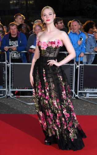Elle Fanning Looks Like a Literal Garden In This Gorgeous Flower-Covered Gown