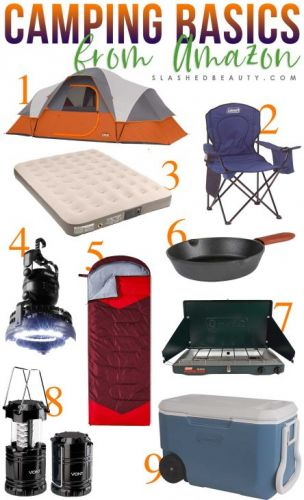 9 Basic Camping Gear Essentials from Amazon