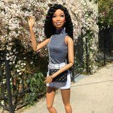 This Brandy Barbie Will Make You Want to Copy Her '90s Hair Swag
