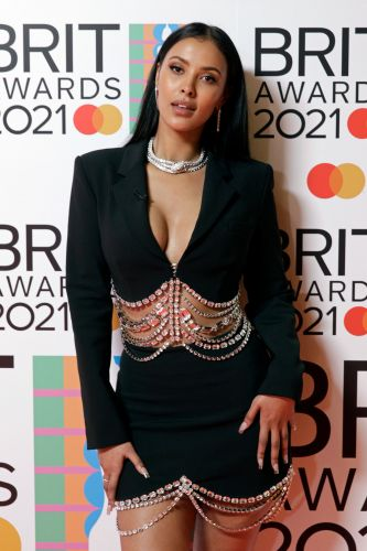 Maya Jama Wore Brown Smoky Eyes and Not a Stitch of Foundation at the 2021 BRIT Awards