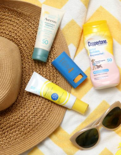 Sunscreen Roundup, Part 3: Bliss Block Star Invisible Daily Sunscreen SPF30, Aveeno Positively Mineral Sensitive Skin Sunscreen SPF 50 for Face, Coppertone Water Babies Fragrance Free SPF 50